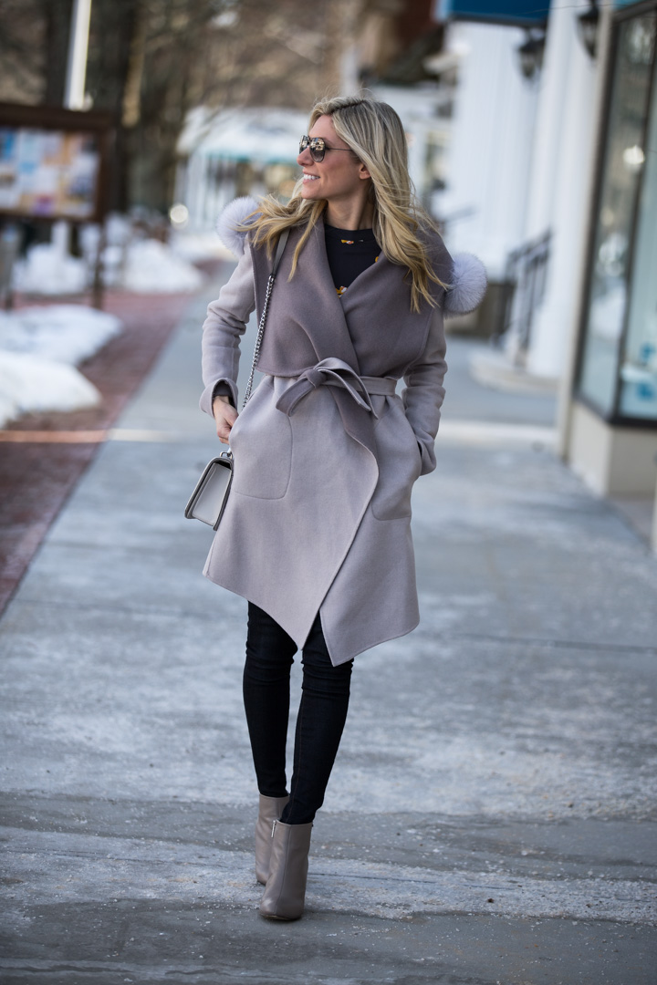 The perfect gray jacket for spring and fall