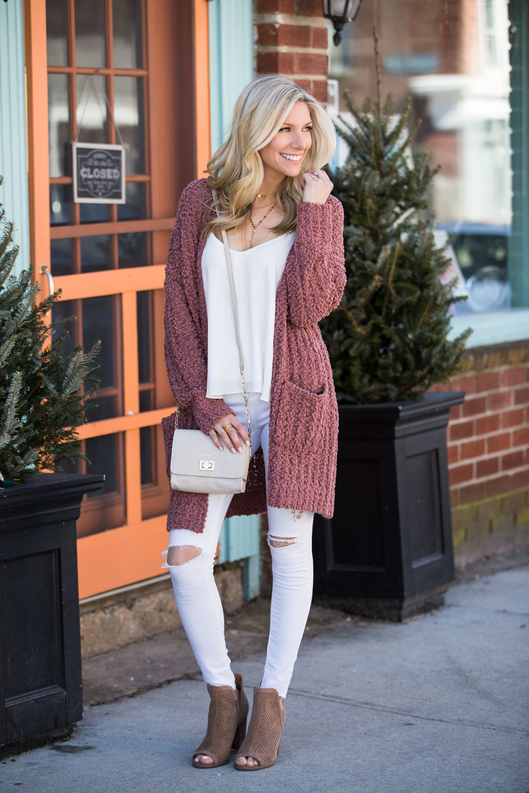 Red Dress Boutique Blush Cardigan