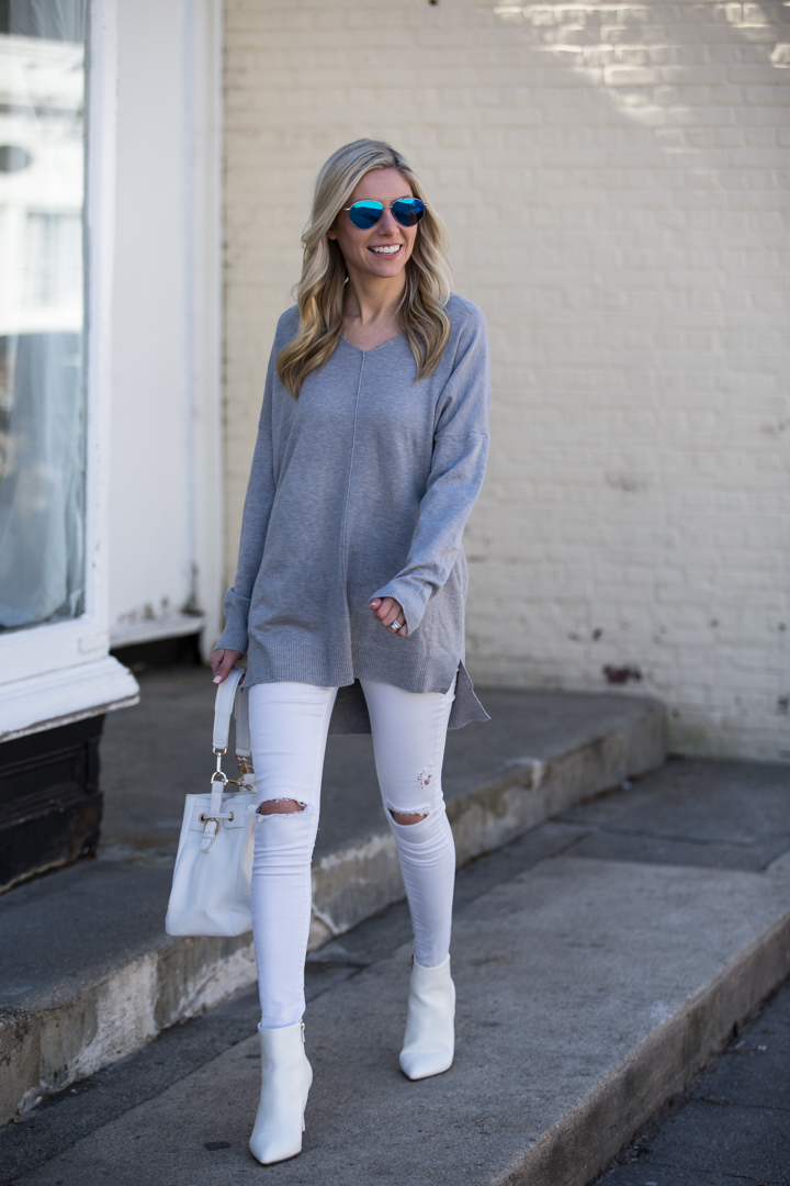 Red Dress Boutique Gray Tunic Sweater
