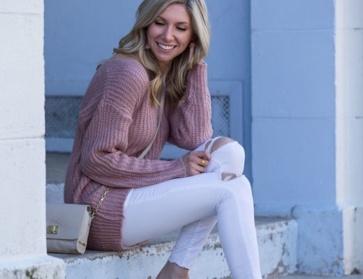 Romwe Blush Sweater & Restricted Shoes