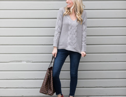 Romwe Gray Sweater under $30