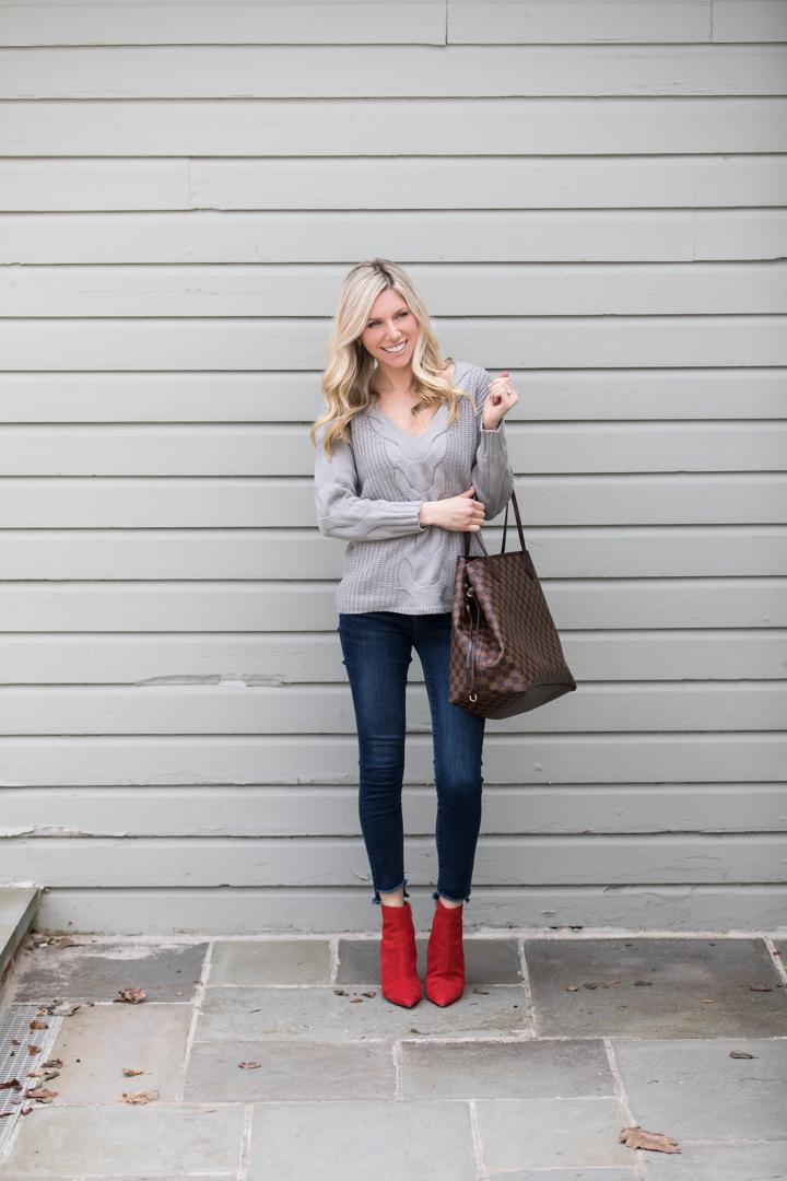 Romwe Gray Sweater under $30