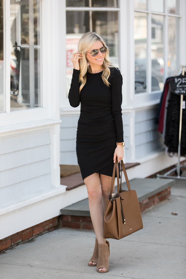 Leith Long Sleeve Ruched Dress