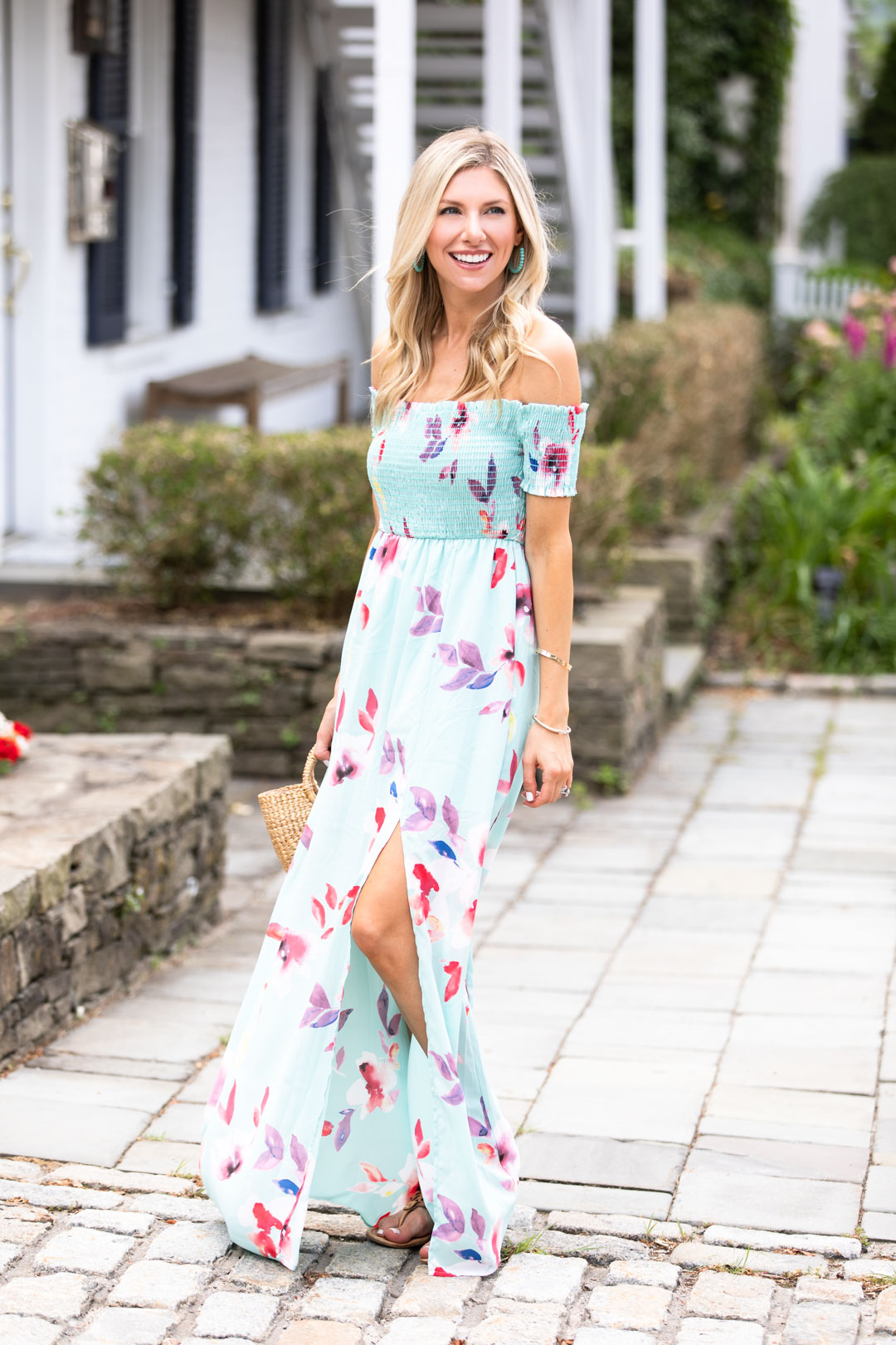 Red Dress Boutique Blue Floral Maxi Dress