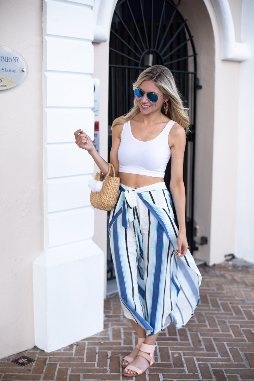 Striped Festival Pants and Crop Top