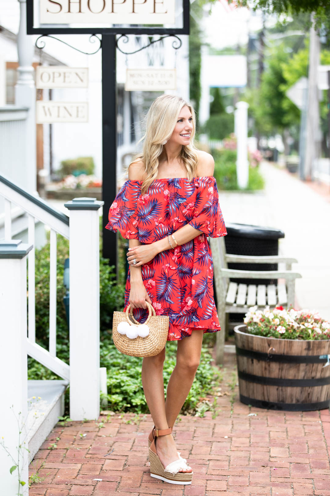 Red Dress Boutique Red Tropical Print Dress