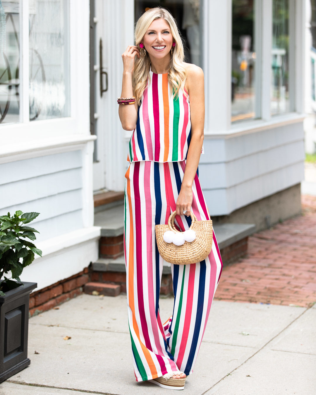 Striped Jumpsuit The Glamorous Gal
