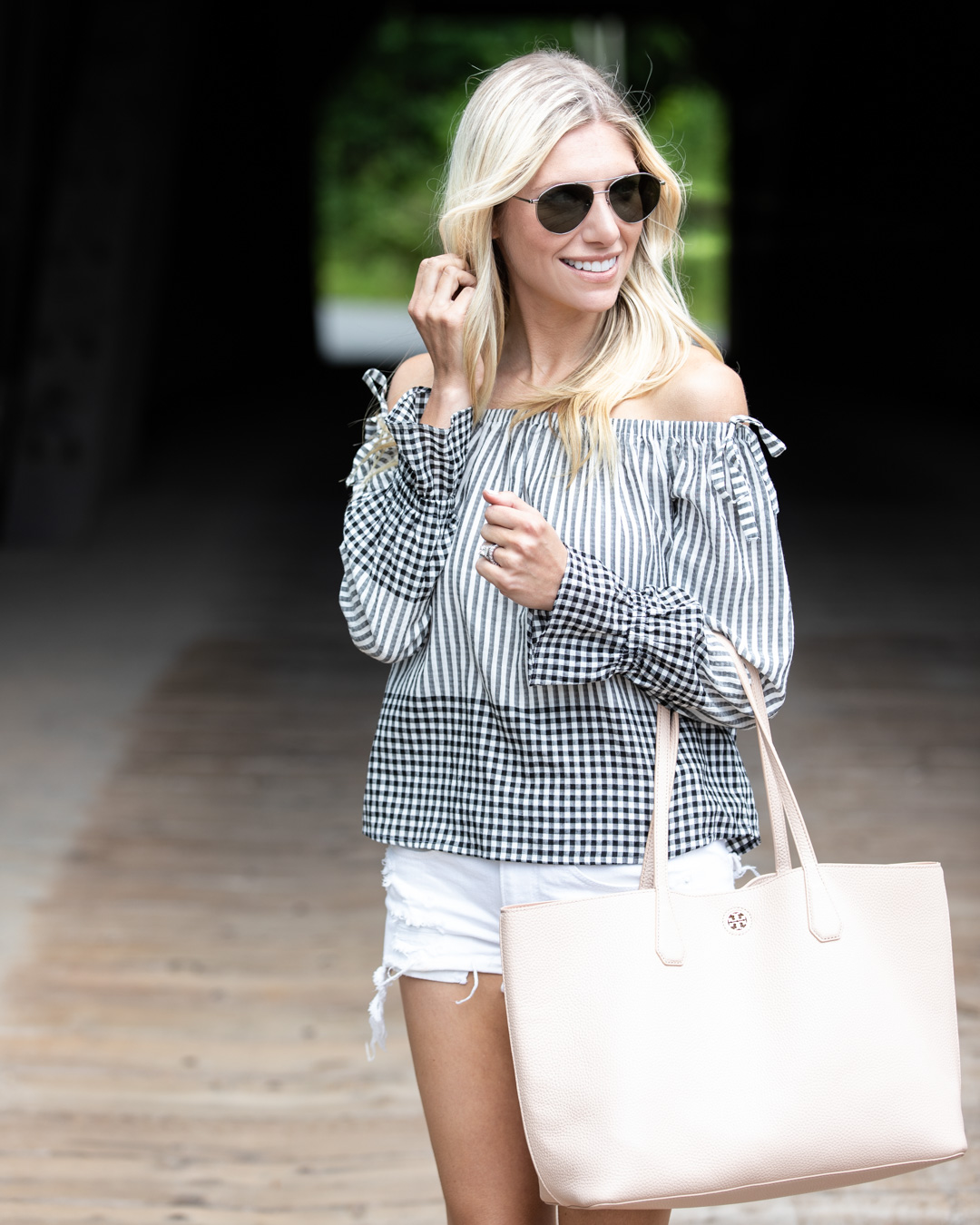 Gingham OTS Top