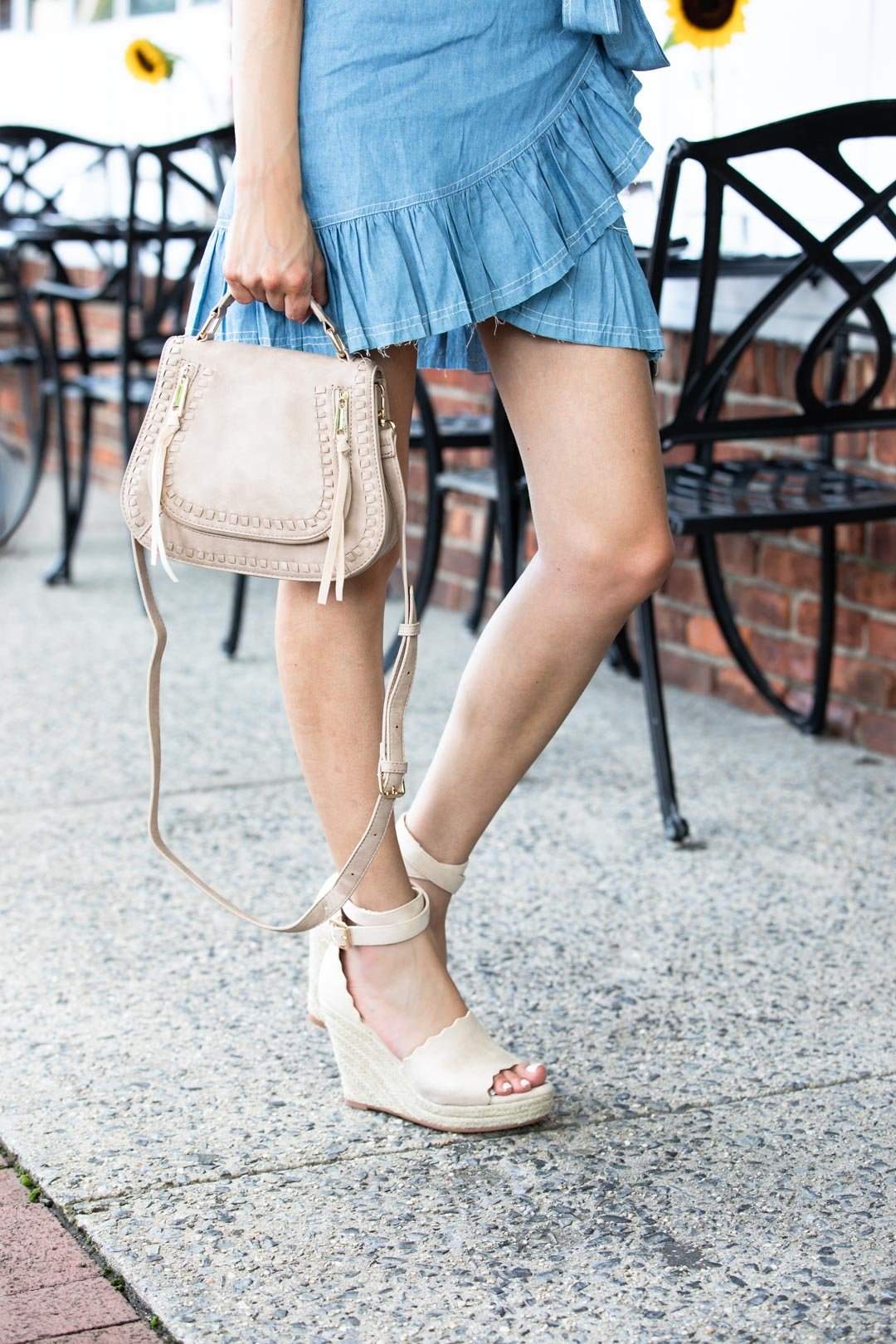 VICIDolls Chambray Dress and Neutral Accessories