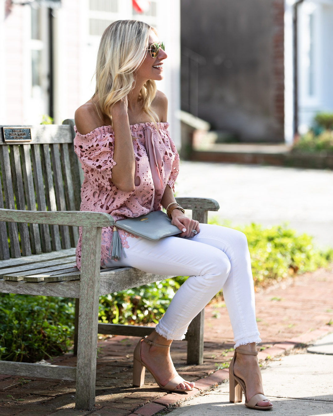 Chicwish Lace Off the Shoulder Top
