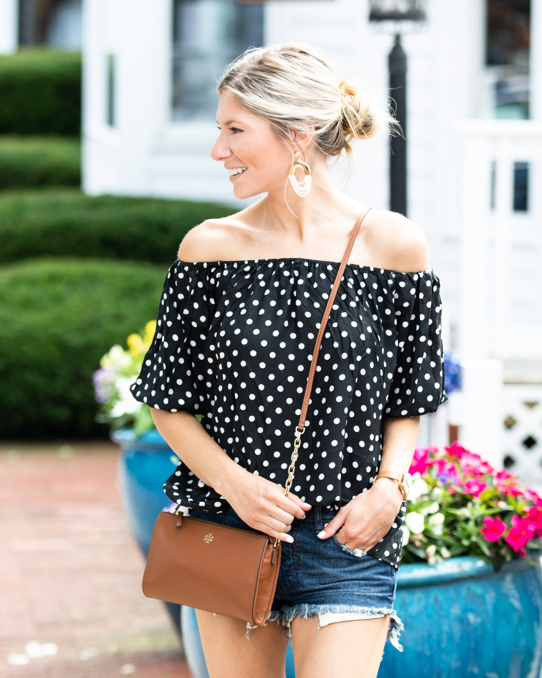 Chicwish Polka Dot Top