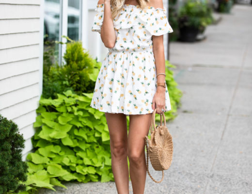 Chicwish Pineapple Ruffle Romper