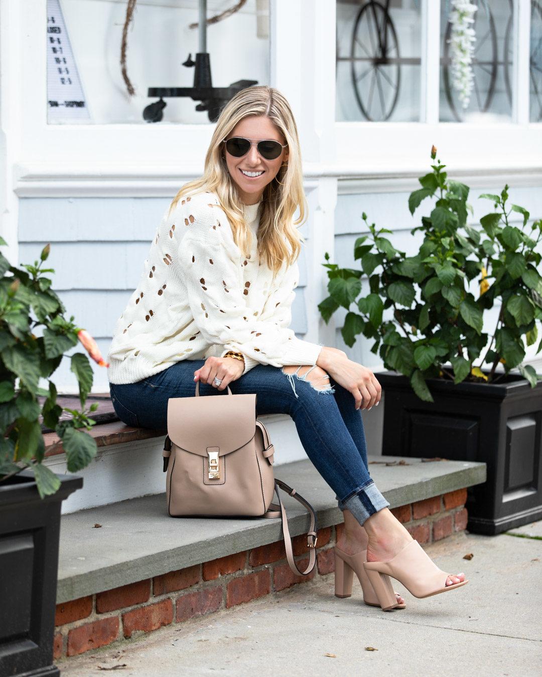 Chicwish White Cutout Sweater