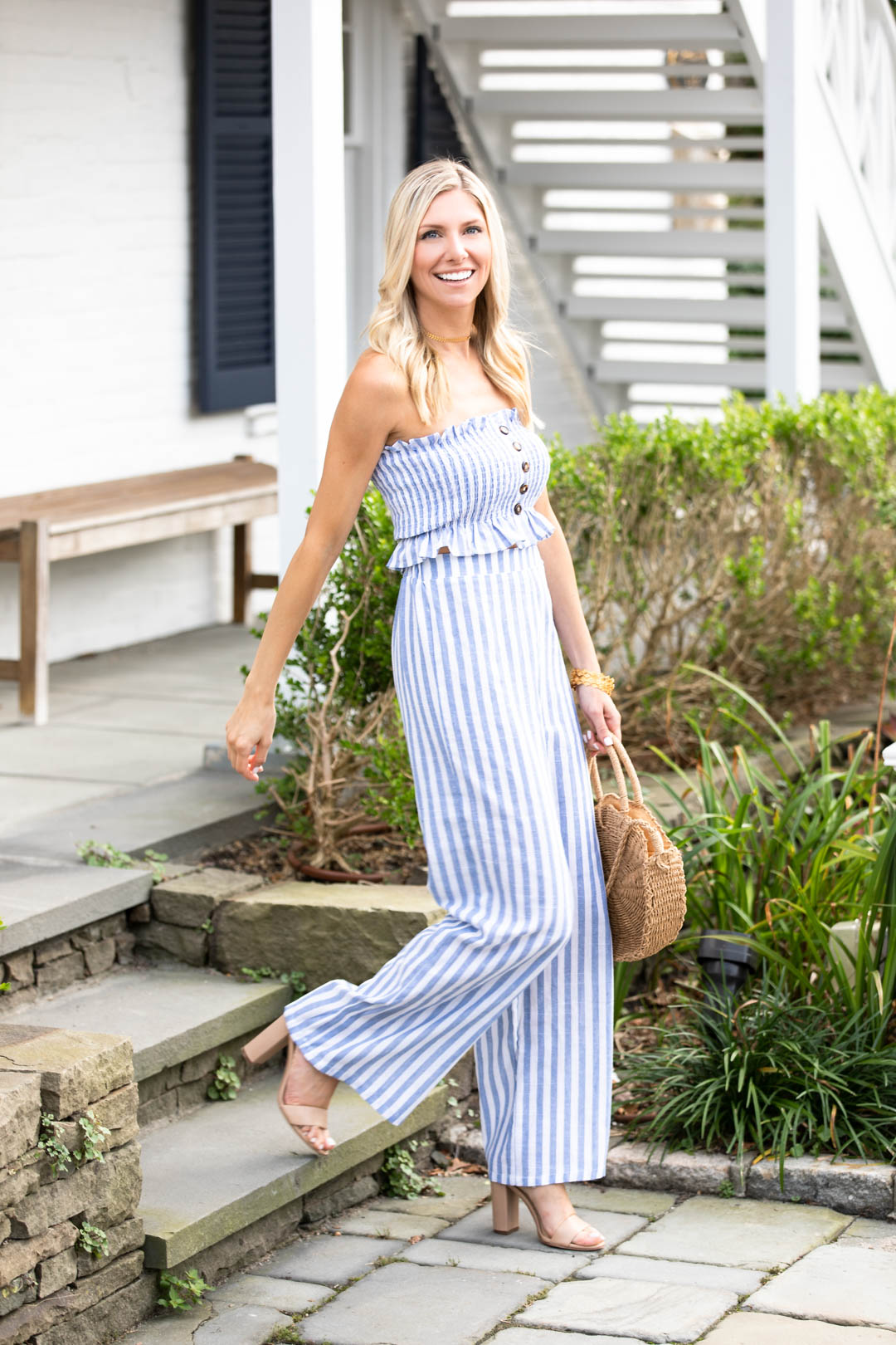 Shein Striped Pants and Crop Top