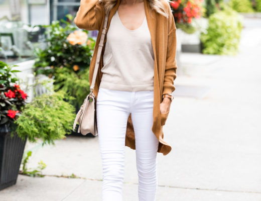 Camel Cardigan and Fall Whites