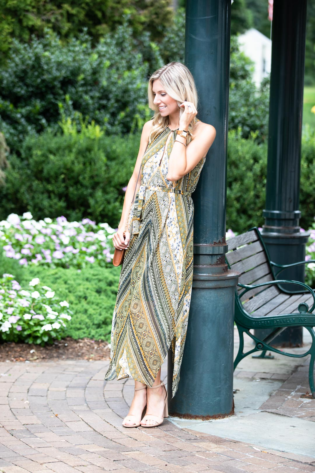 BCBG Tribal Print Flowy Dress