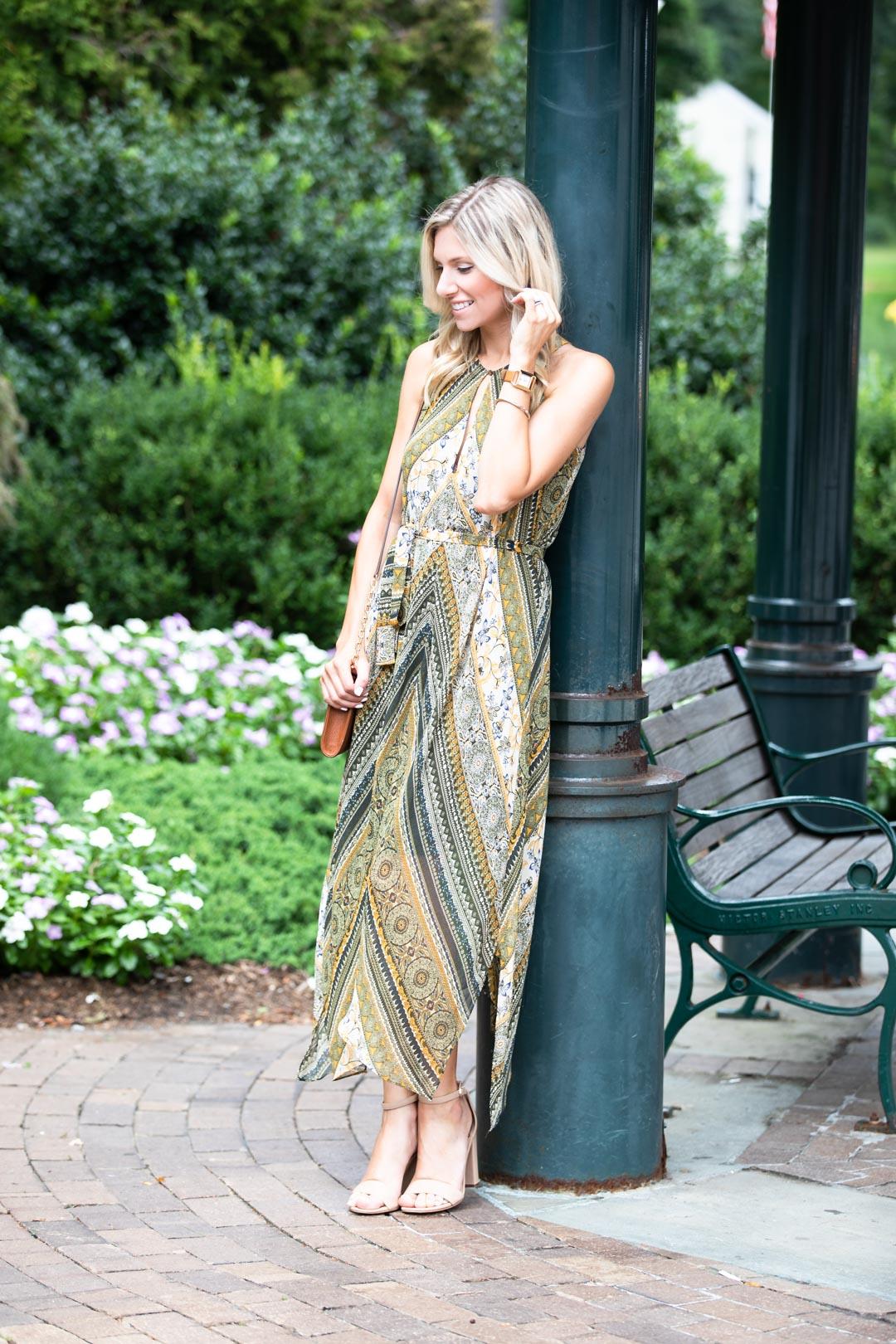 BCBG Tribal Print Flowy Dress