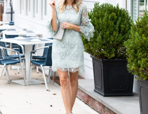 Chicwish Mint Lace Shift Dress