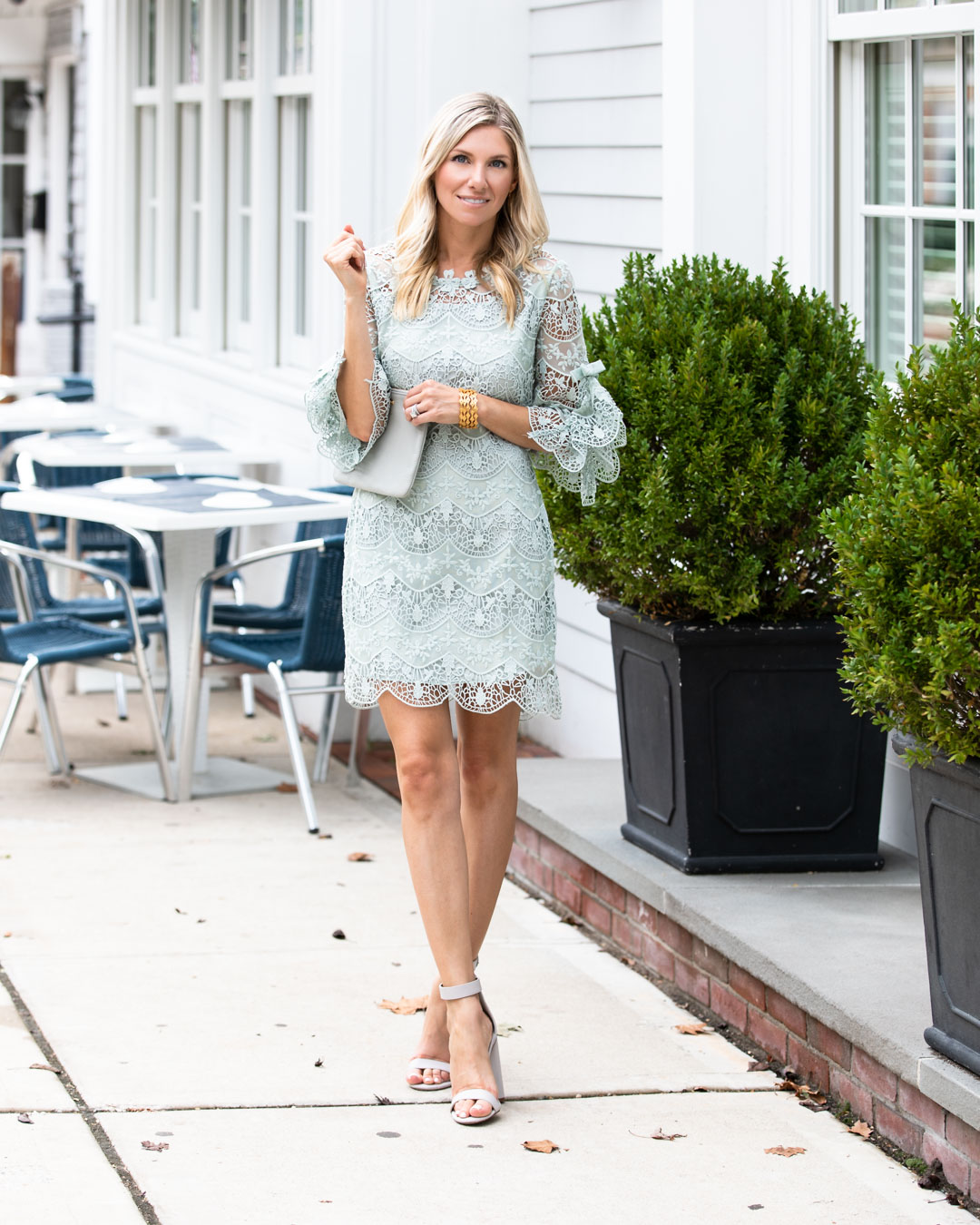 Chicwish Mint Lace Shift Dress