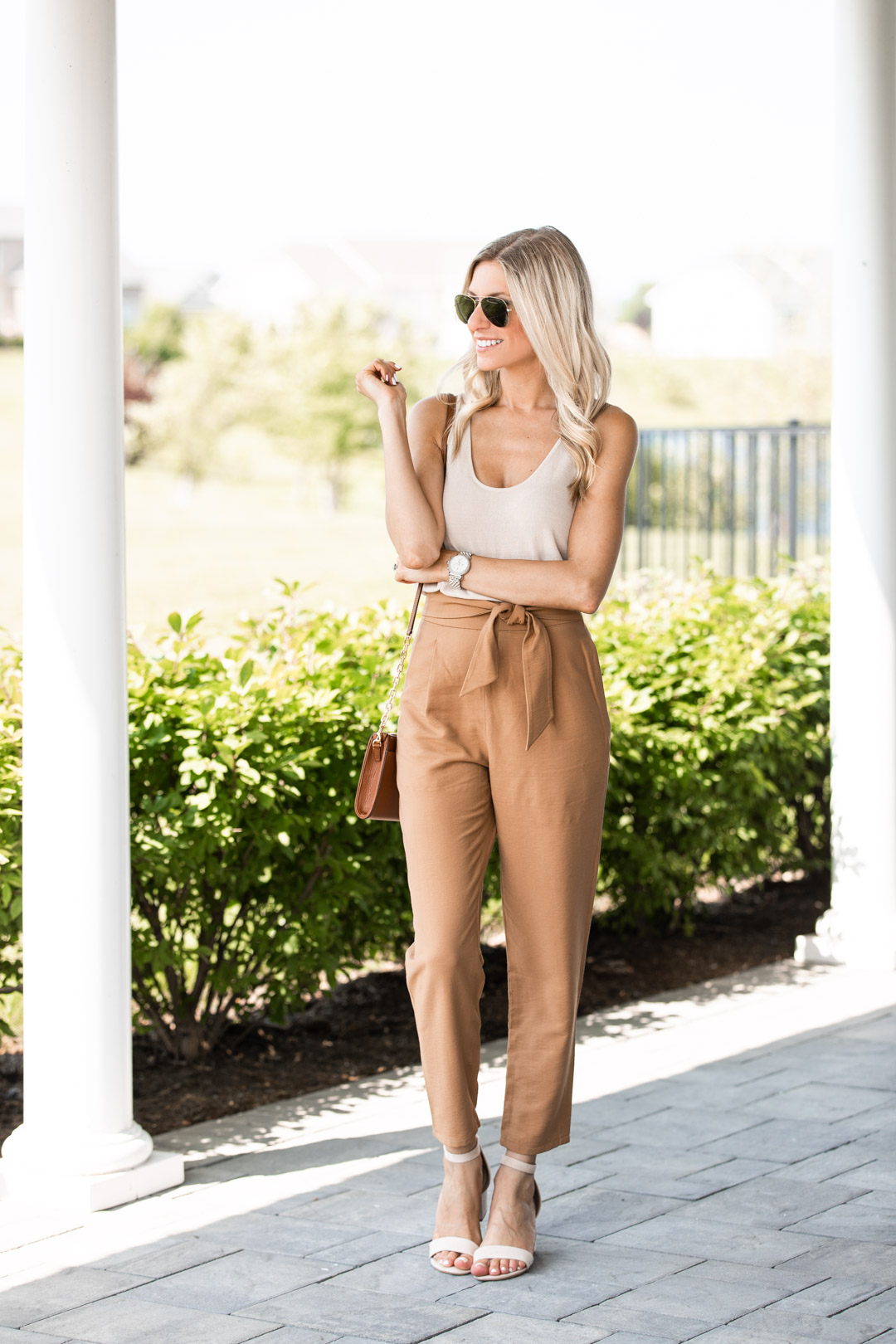 Neutral Fall Desk to Dinner Outfit