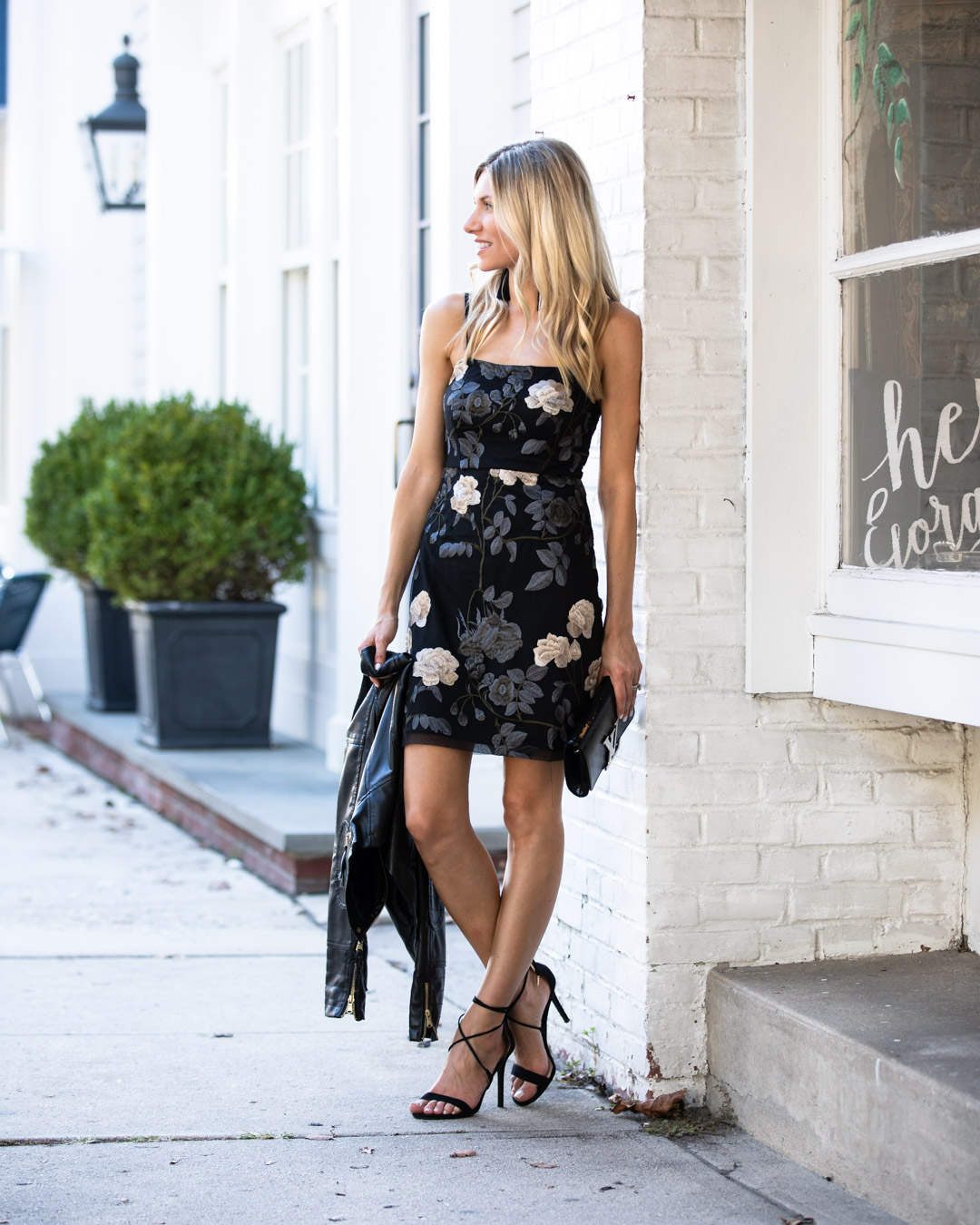 Lulus Floral Embroidered Dress