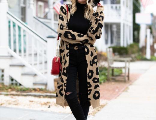 Shein Leopard Duster