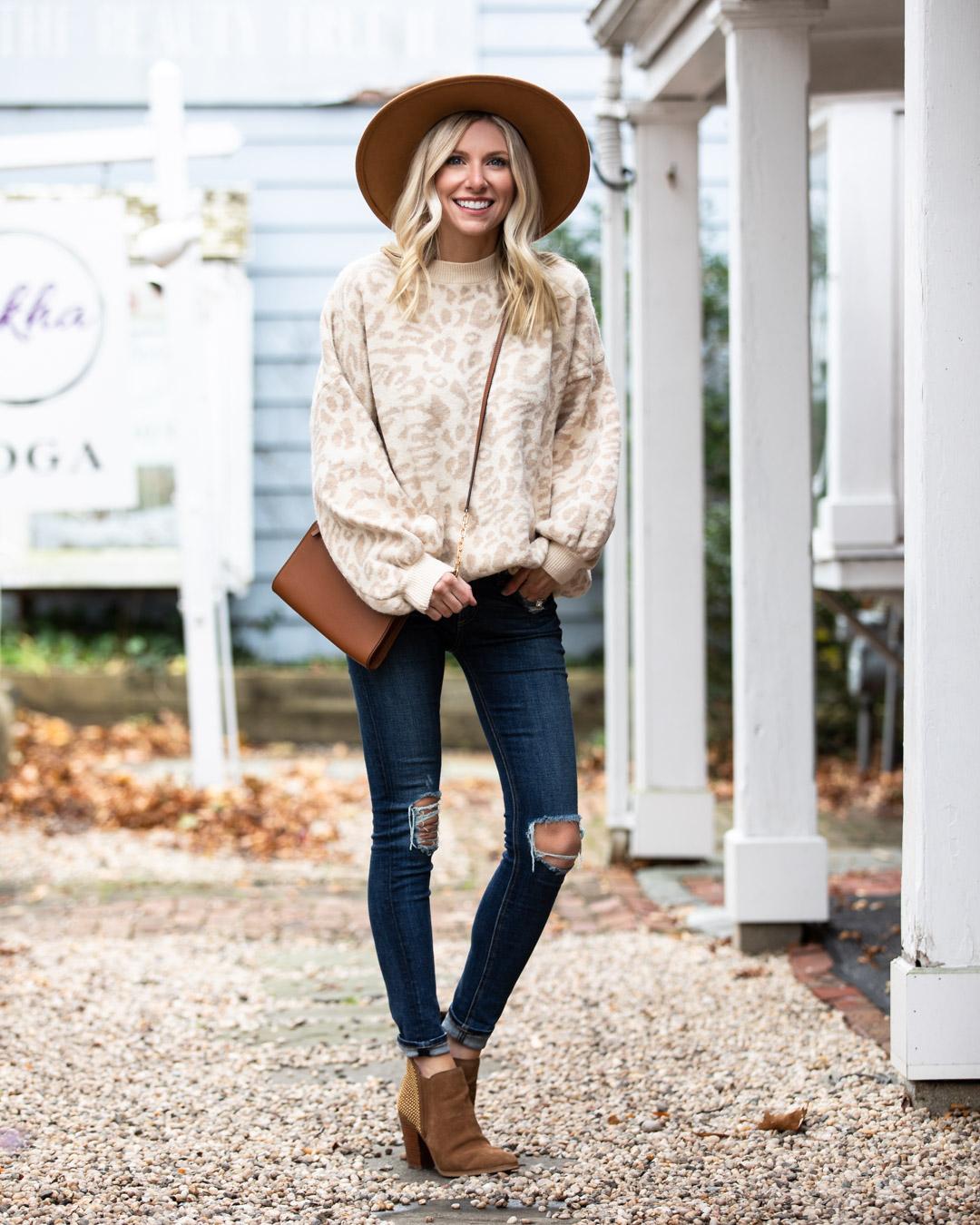 Goodnight Macaroon Tan Leopard Sweater