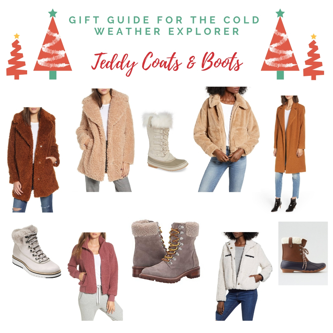 Gift Guide for the cold weather explorer teddy coats and boots