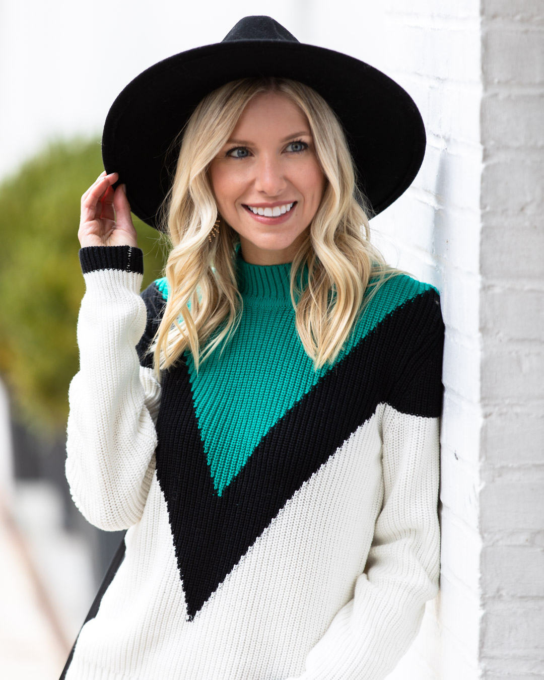 VICI Turquoise Color Block Sweater