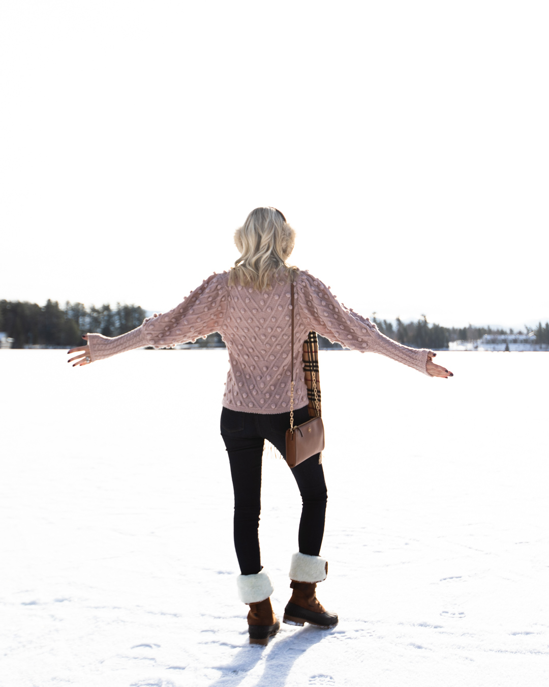 Blush Pom Pom Sweater