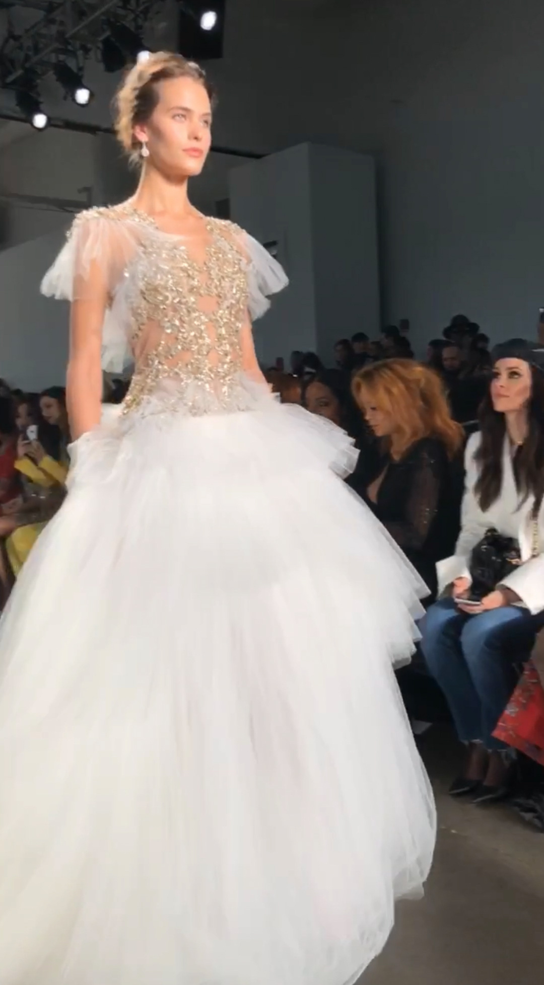 Pamella Roland Sequin and Tulle Gown