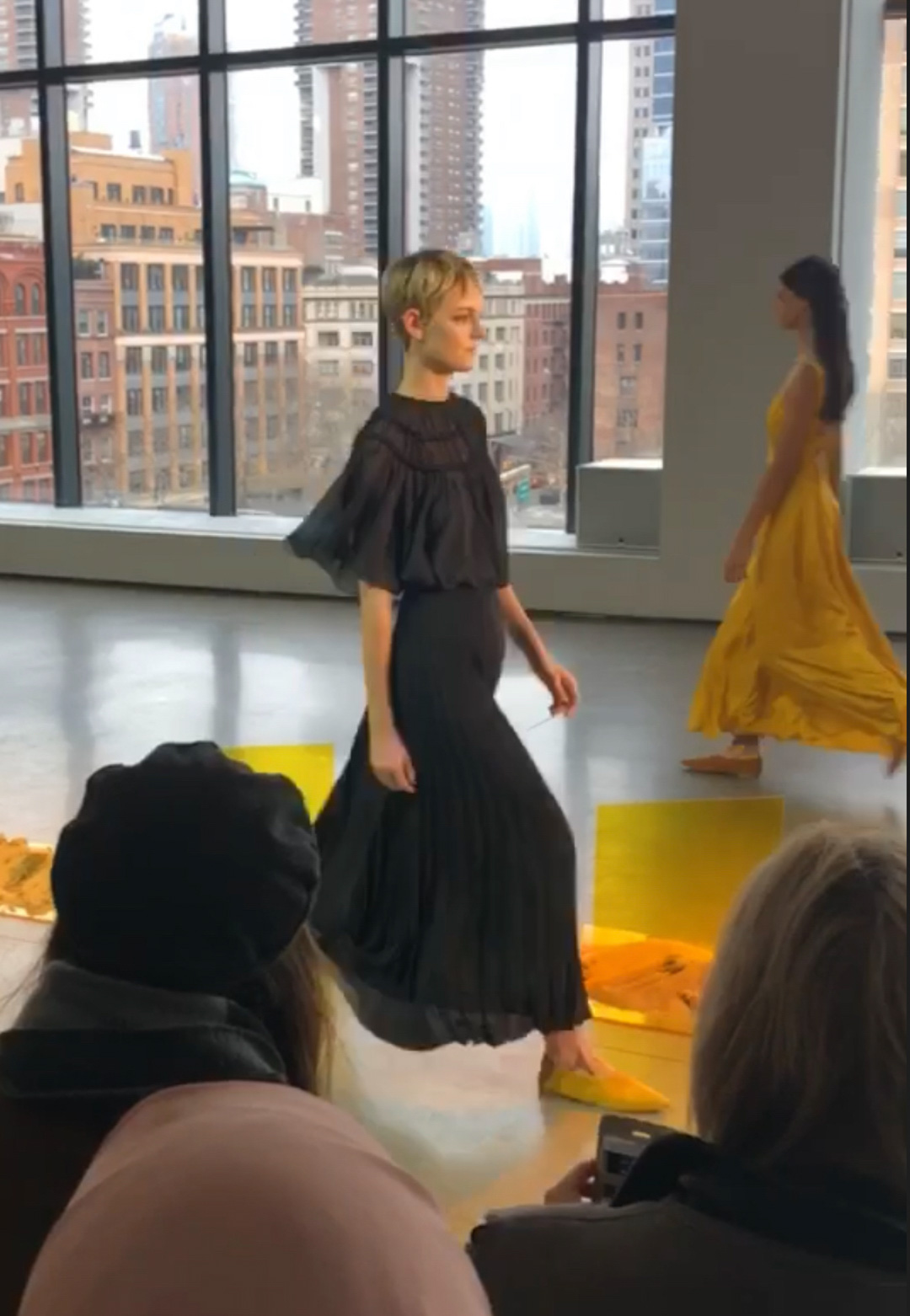 Noon by Noor Runway Show Feminine Pieces and Combat Boots