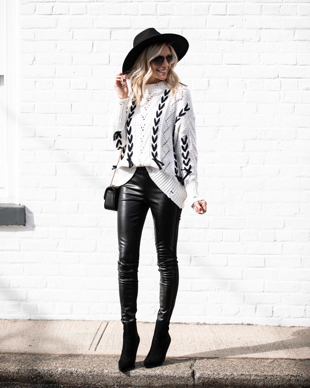Chicwish Black Lace Knit Sweater