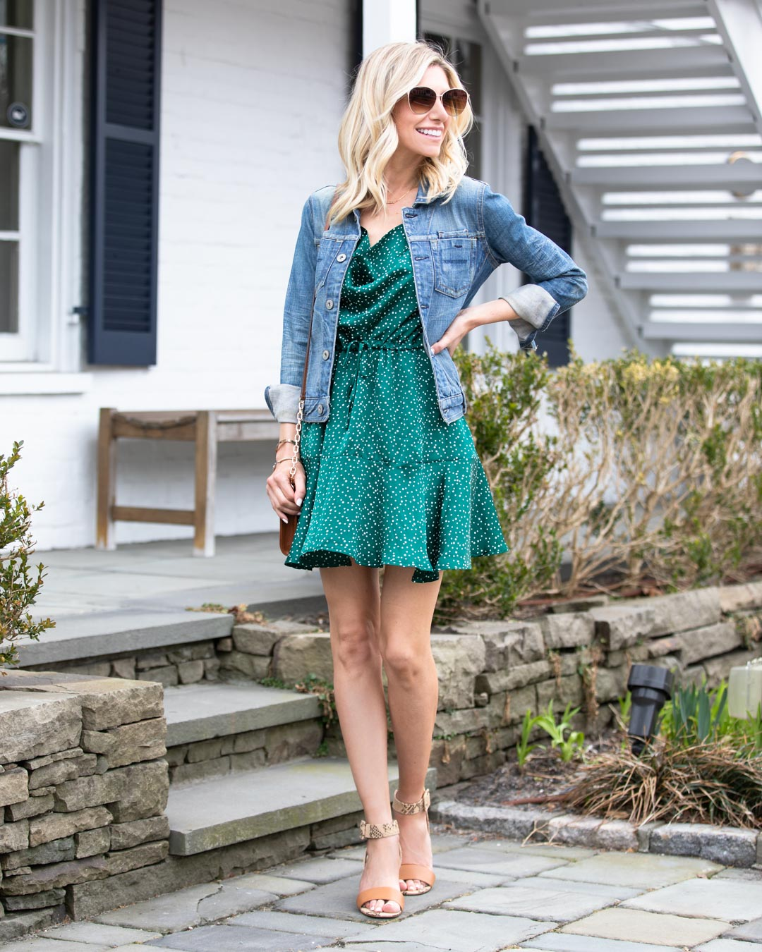 Green Polka Dot Dress