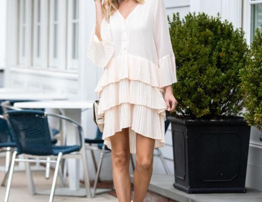 Blush Pleated Layer Dress