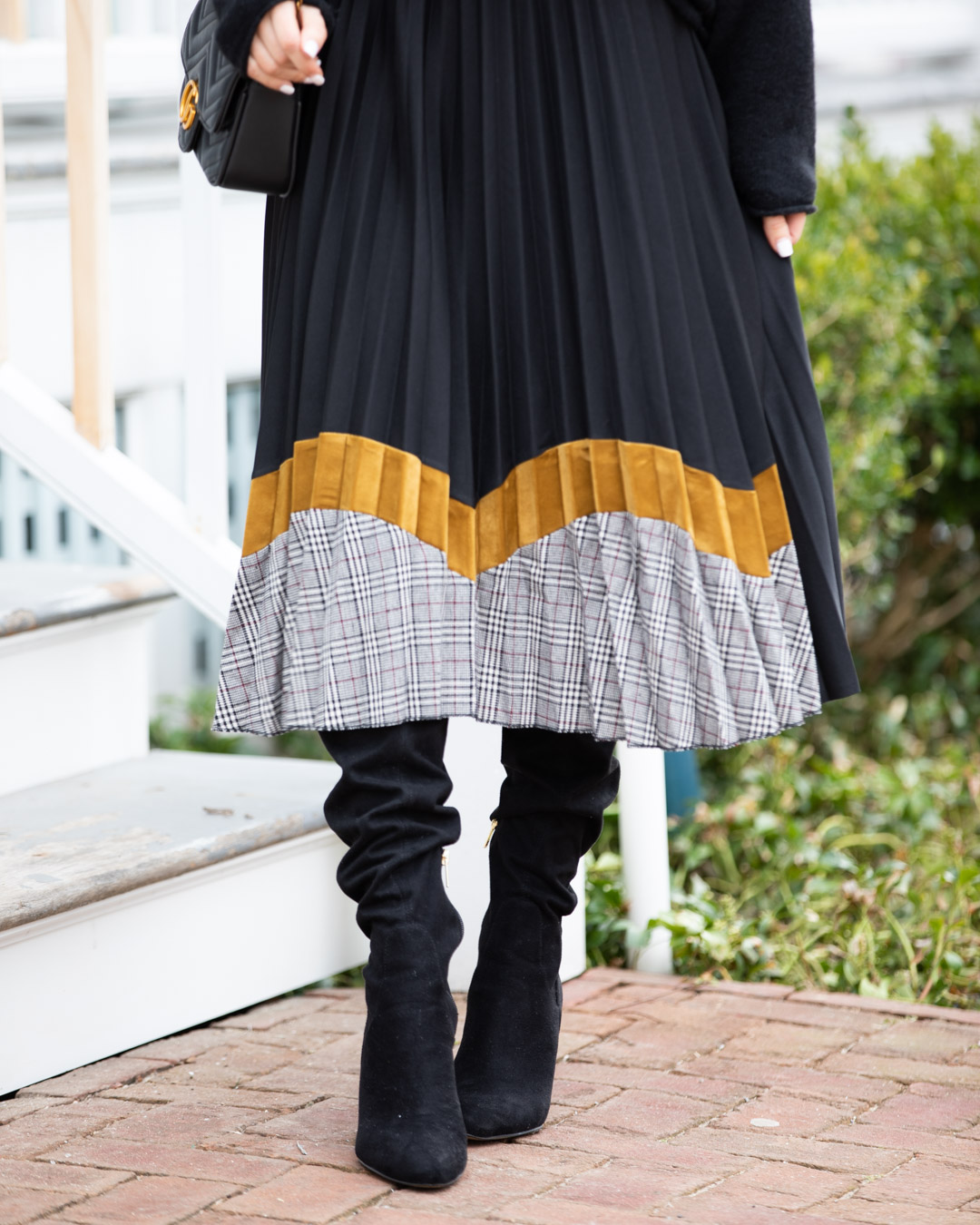 Black and Gold Maxi Skirt