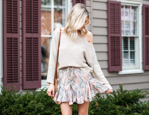 Neutral Sweater and Skirt
