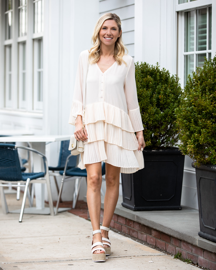 Blush Pleated Layer Dress