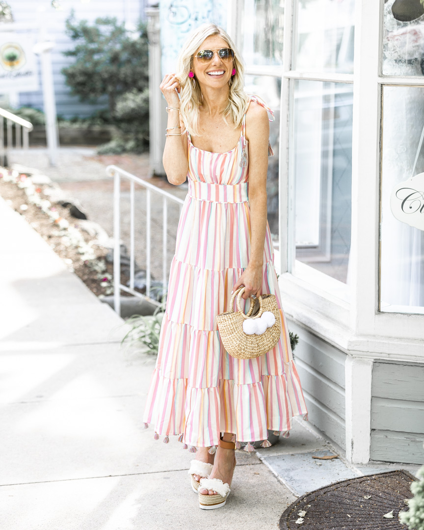 Light and Airy Tassel Maxi Dress