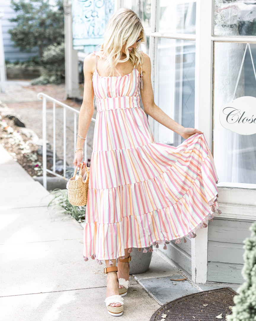 Light and Airy Tassel Maxi Dress