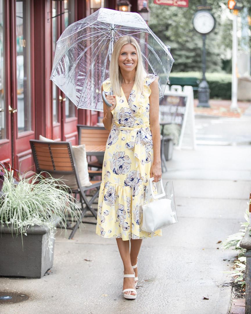 floral summer wrap dress