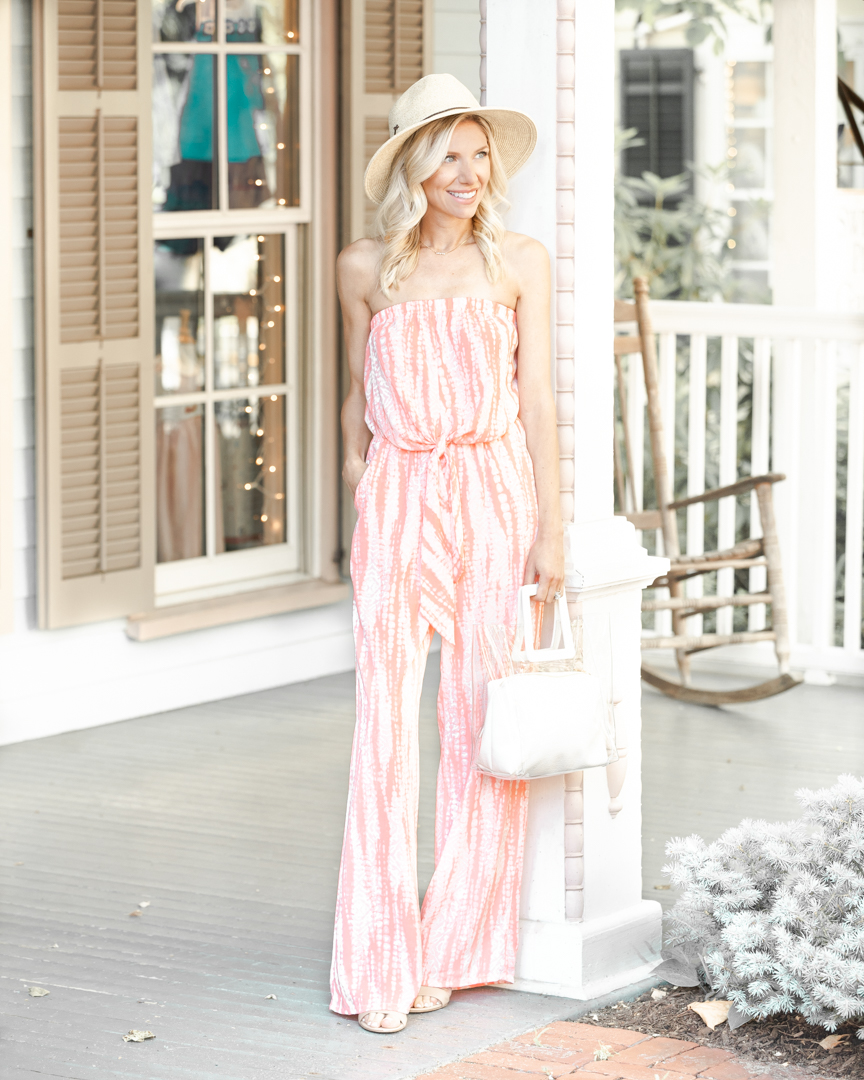 casual pink jumpsuit