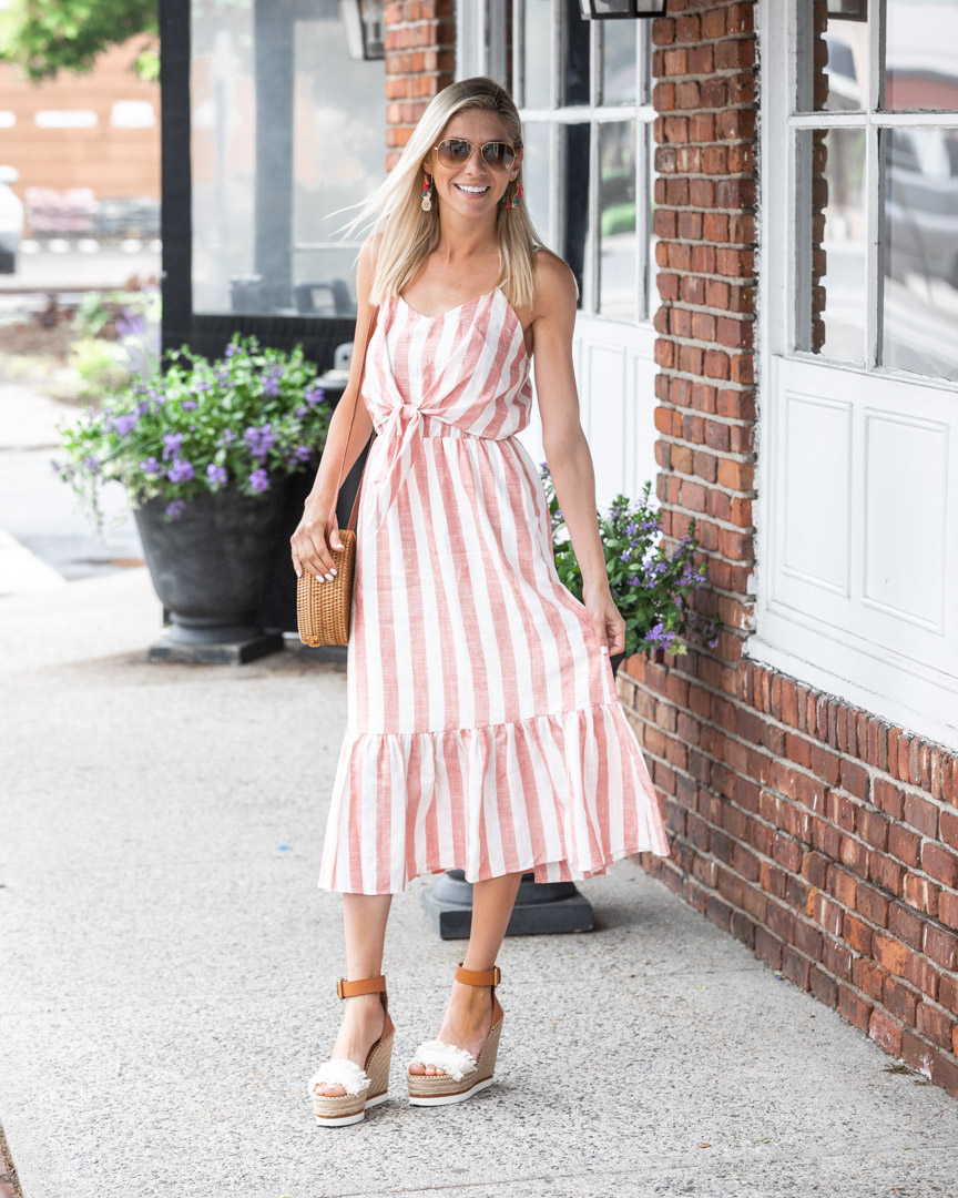 striped spring and summer dress The-Glamorous-Gal