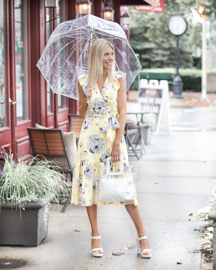 neutral floral dress