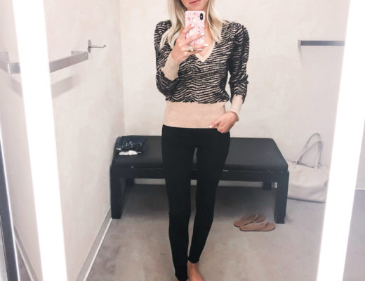 Leopard sweater and black jeans