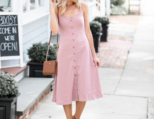 blush cotton dress