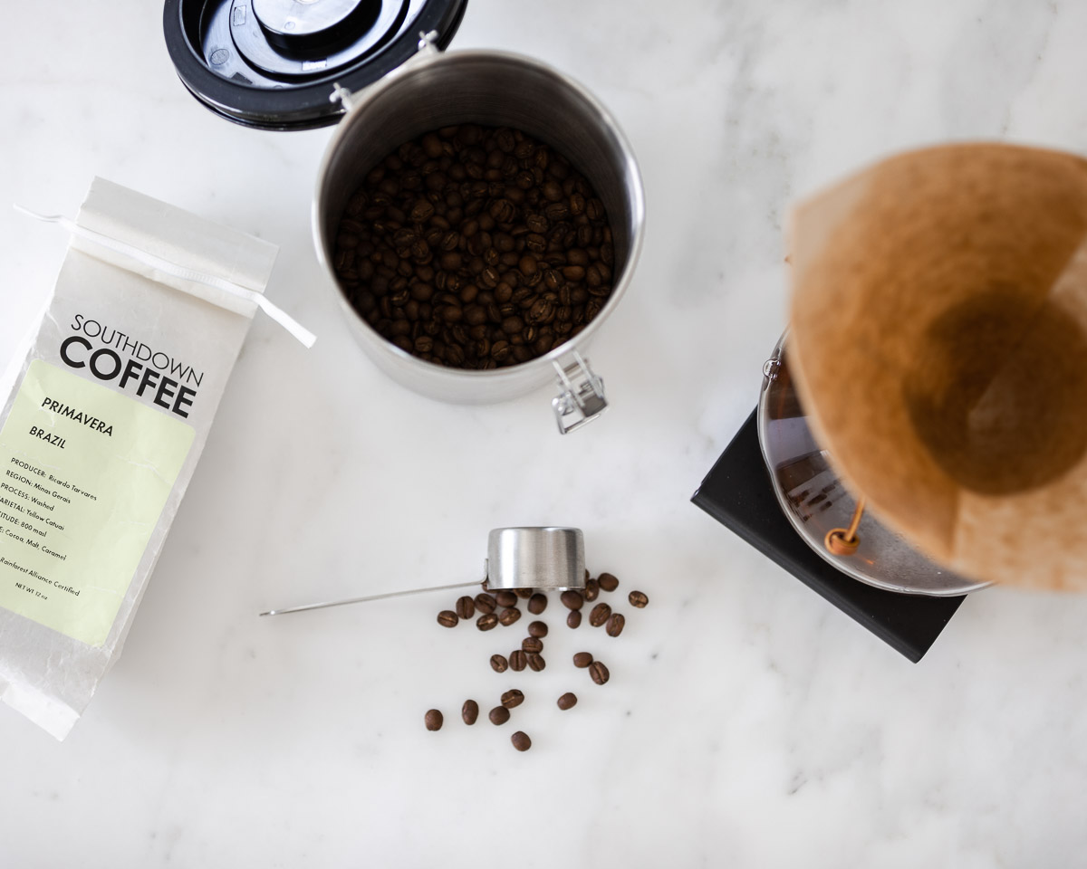 coffee canister, chemex and encore grinder from ebay The Glamorous Gal