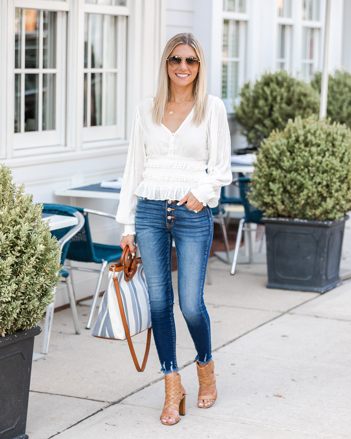 Casual Fall Look and Striped Details