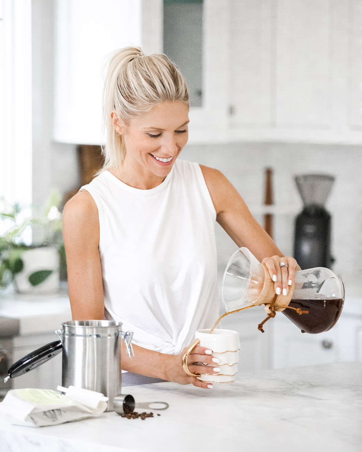 morning coffee for the weekend with chemex from ebay The Glamorous Gal