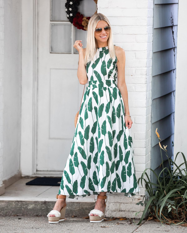 Tropical Midi Dress